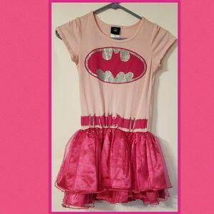 DC COMICS BATGIRL Pink and Silver Tutu Dress Large